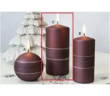 Lima Sparkling candle crimson roller 70 x 150 mm