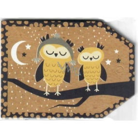Nekupto Owl Christmas Gift Cards 5.5 x 7.5 cm 6 pieces