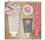 Baylis & Harding Pink Magnolia and Pear Flower Milk 75 ml + Hand Peeling 30 ml + Water Bath Hand Crystal 20 ml + Nail File, Cosmetic Hand Care Kit