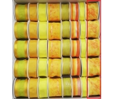 Ditipo Fabric ribbon with wire yellow with bow tie 2 mx 40 mm 1 piece
