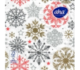 Aha Christmas paper napkins 3 ply 33 x 33 cm 20 pieces Snowflakes