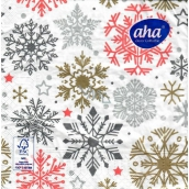 Christmas paper napkins 3 ply 33 x 33 cm 20 pieces Snowflakes