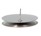 Emocio Candlestick metal table silver 5 cm 1 piece S36