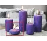 Lima Ice candle purple floating lens 70 x 30 mm 1 piece