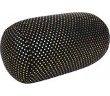 Albi Relaxation pillow Black and gold polka dots 43 x 15 cm