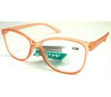 Berkeley Reading Prescription Glasses +1.0 plastic old pink transparent 1 piece MC2191