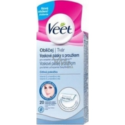 Veet Wax Strips with Face Stripe 20 Pieces + Pefect Finish Napkins 4 Piece