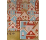 Nekupto Christmas wrapping paper Houses 0.7 x 1.5 m BJ 846 40