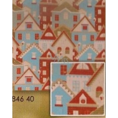 Nekupto Wrapping paper Christmas Houses 0,7 x 1,5 m
