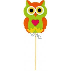 Felt owl with heart recess 9 cm + skewers