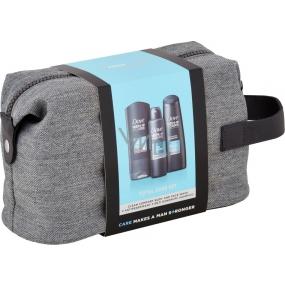 Dove Men + Care Clean Comfort shower gel 250 ml + antiperspirant spray 150 ml + shampoo 250 ml, cosmetic set