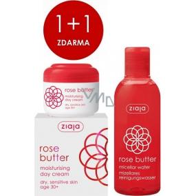 Ziaja Rose Flower moisturizing day cream 50 ml + micellar water 200 ml, duopack