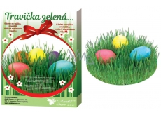 Decorating eggs Green grass set