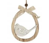 Ovalek for hanging wooden bird, butterfly 11 cm 1 piece