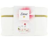 Dove Pink Clay shower gel 250 ml + body scrub 225 ml + hand cream 75 ml + deodorant antiperspirant spray 150 ml + etue