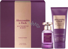 Abercrombie & Fitch Authentic Night Woman Eau de Parfum for Women 50 ml + Body Lotion 200 ml, gift set