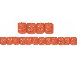Halloween pumpkin garland orange 400 x 11.5 cm