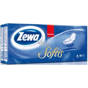 Zewa Softis handkerchiefs 4 ply 10 x 10 pieces