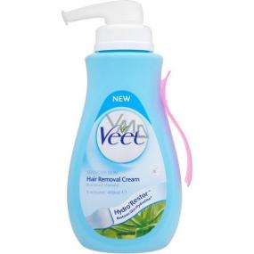 Veet Aloe Vera Vitamin E Hair Removal Cream For Sensitive Skin 400ml Pump