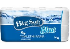 Big Soft Blue toaletní papír bílý 3 vrstvý 150 útržků 16 rolí