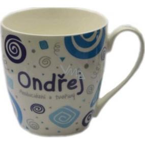 Nekupto Twister mug named Ondrej blue 0.4 liter