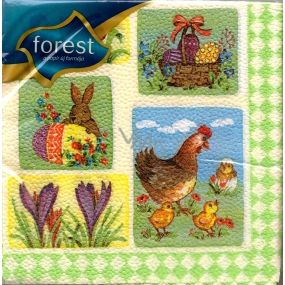 Forest Picture motifs Easter napkins 33 x 33 cm 1 layer 20 pieces