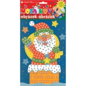 Mozaikový hrací set Vánoce Santa v komíně 23 x 16 cm