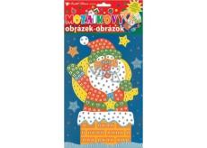 Mosaic Christmas Santa set in chimney 23 x 16 cm