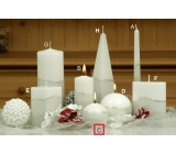 Lima Artic candle white ball 80 mm 1 piece