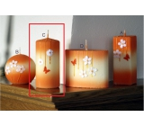 Lima Flowering meadow candle orange roller 60 x 120 mm 1 piece