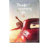 Albi Greeting Card - Careful ride in the car