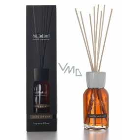 Millefiori Natural Vanilla & Wood Diffuser 7 stalks 25 cm in smaller space lasts 5-6 weeks 100 ml