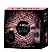 La Rive Touch of Woman perfumed water 90 ml + deodorant spray 150 ml, gift set