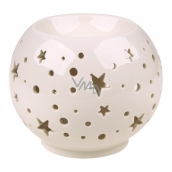 Aromalampa porcelain white with stars 9 cm