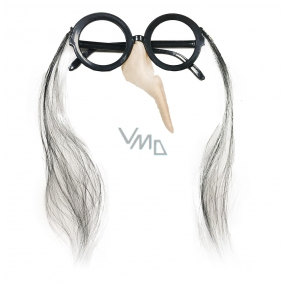 Glasses with halloween witch nose