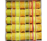 Ditipo Fabric ribbon with wire yellow neon 4 mx 15 mm