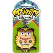 Nekupto keyring Sensations LQ 006 Owl beige