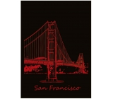 Ditipo Notebook City Gold Collection A4 lined San Francisco 21 x 29.5 cm 3421002