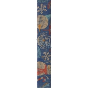 Nekupto Wrapping paper Christmas Blue, snowmen 70 x 150 cm 1 roll BJ 15