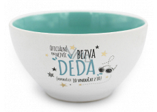 Nekupto Gift Center Ceramic Bowl Crack Grandpa 13 x 6.5 cm