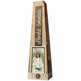 Bohemia Gifts Hot extra fine selected milk chocolate Angel with four-leaf clover 30 g
