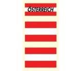 Arch Tetovací obtisky na obličej i tělo Rakousko vlajka 3 motiv