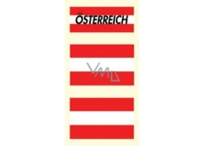 Arch Tattoo decals for face and body Austria flag 3 motif