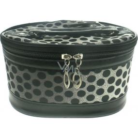 Cosmetic case polka dot black 17 x 12 x 10 cm 70390