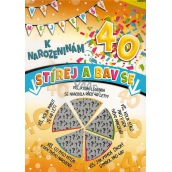 Nekupto Birthday Scratch Card 32 x 23 cm 40 G 40 3357