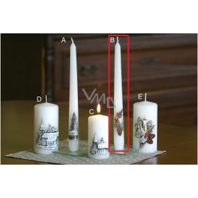 Lima Relief winter cones candle white cone 22 x 250 mm 1 piece