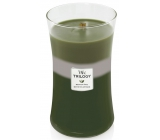 WoodWick Trilogy Mountain Trail 609.5 g large scented candle with wooden wick and lid
