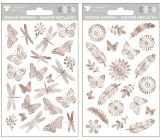 Water decals made of silver foil 9 x 15 cm