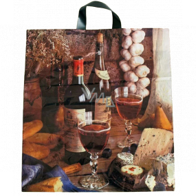 Plastic bag 47 x 43 with wine handle