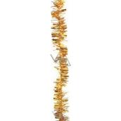 Řetěz širší a užší třásně, zlatý délka 200 cm